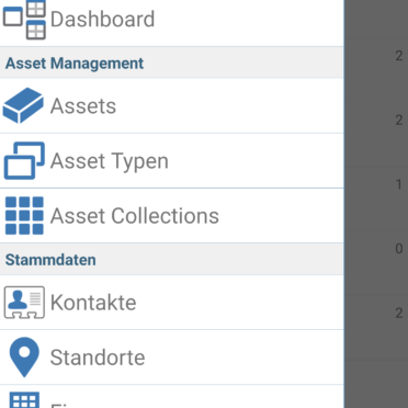 ACMP Asset Management APP Übersicht